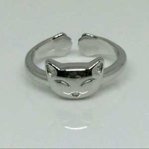 Sterling Silver Kitty Toe Ring